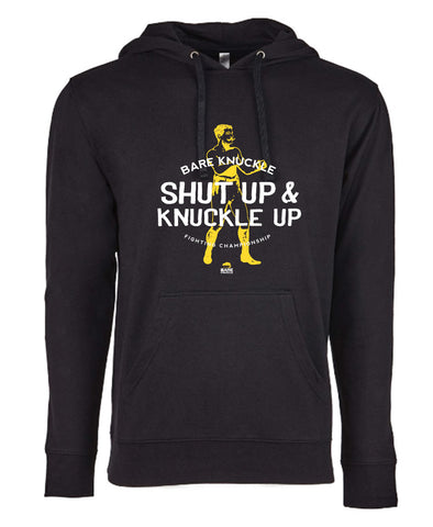 Shut Up & Knuckle Up French Terry Hoodie - Black/Yellow