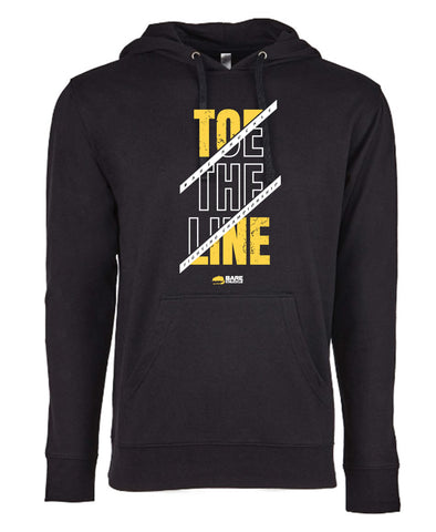 Toe the Line French Terry Hoodie - Black/Yellow