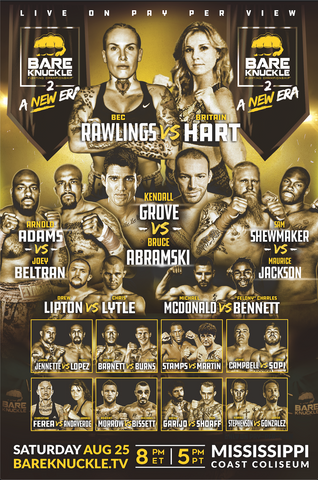 BKFC 2 Autographed Fight Poster - 24x36