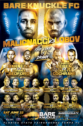 BKFC 6 Autographed Fight Poster - 24x36