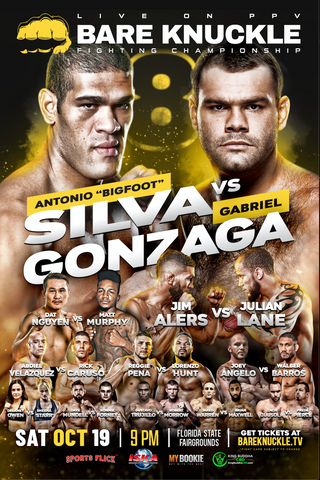 BKFC 8 Autographed Fight Poster - 24x36