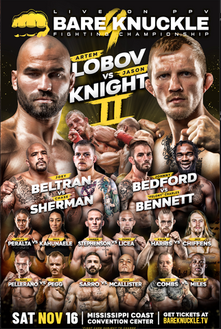 BKFC 9 Autographed Fight Poster - 24x36