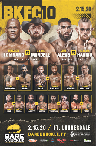 BKFC 10 Autographed Fight Poster - 24x36