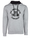 Toe the Line Circle French Terry Hoodie - Gray/Black