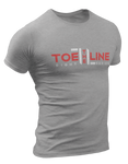Toe the Line Fight Series Logo Tee Gray/Red/White