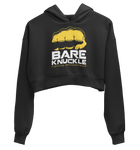 BKFC Logo Women's Crop Fleece Hoodie - Black/Yellow