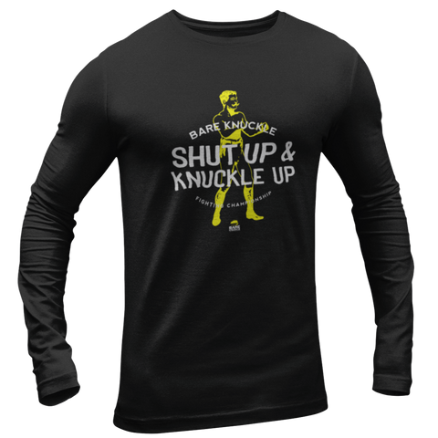 Shut Up & Knuckle Up Long Sleeve Tee - Black / Yellow