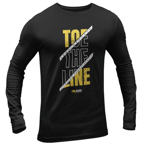 Toe the Line Long Sleeve Tee - Black / Yellow
