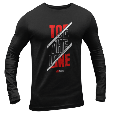 Toe the Line Long Sleeve Tee - Black / Red
