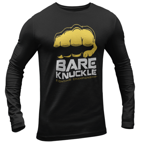 BKFC Logo Long Sleeve Tee - Black / Yellow