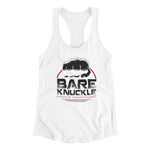 BKFC Circle Logo Women's Racerback Tank - White/Black/Red