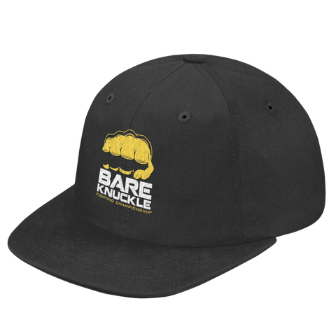 BKFC Logo Twill Fitted Hat - Black