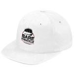 BKFC Circle  Logo Twill Fitted Hat - White/Black/Red - Pre-Order