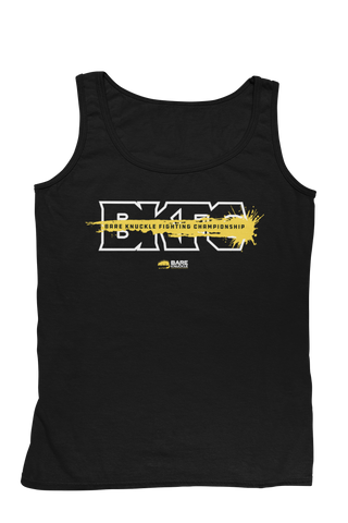 Splash Logo Men's Tank - Black/Yellow