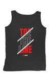 Toe the Line Men's  Tank - Black/Red/Gray