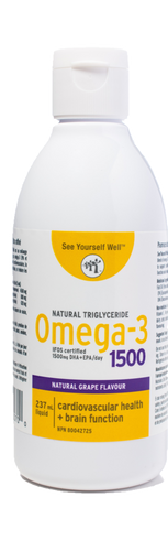 See Yourself Well Omega-3 1500 (Grape, Lemon)