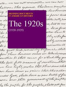 Defining Documents in American History: The 1920s (1920-1929)