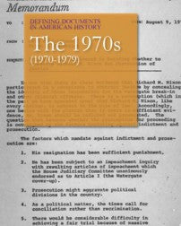 Defining Documents in American History: The 1970s