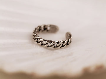 classic adjustable ring 925 curb
