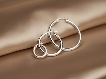 classic hoops earrings silver 925