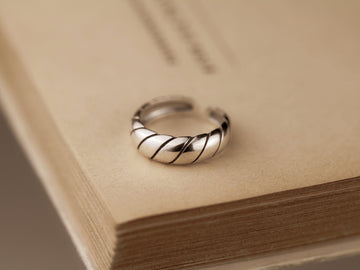 croissant silver 925 ring