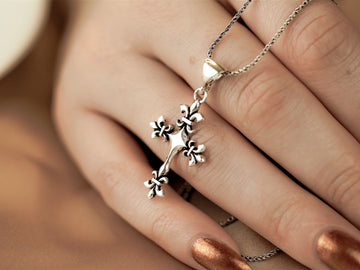 cross pendant necklace silver sterling 925