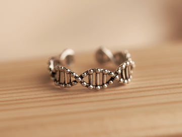 dna silver ring 925 sterling for women