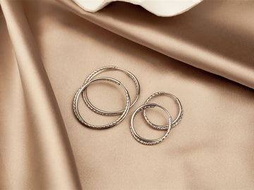 double hoops silver 925