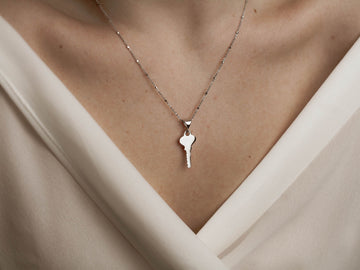 key necklace silver 925 sterling