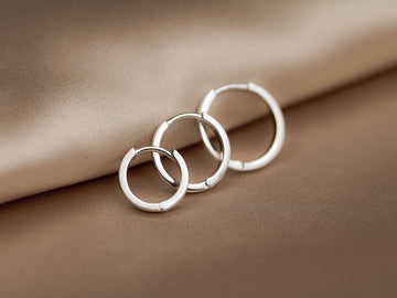 mini hoop earrings silver