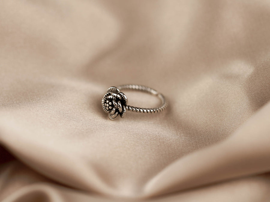 minimalist rose ring silver