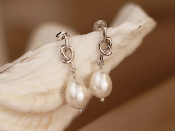 pearl earrings silver 925 drop earrings
