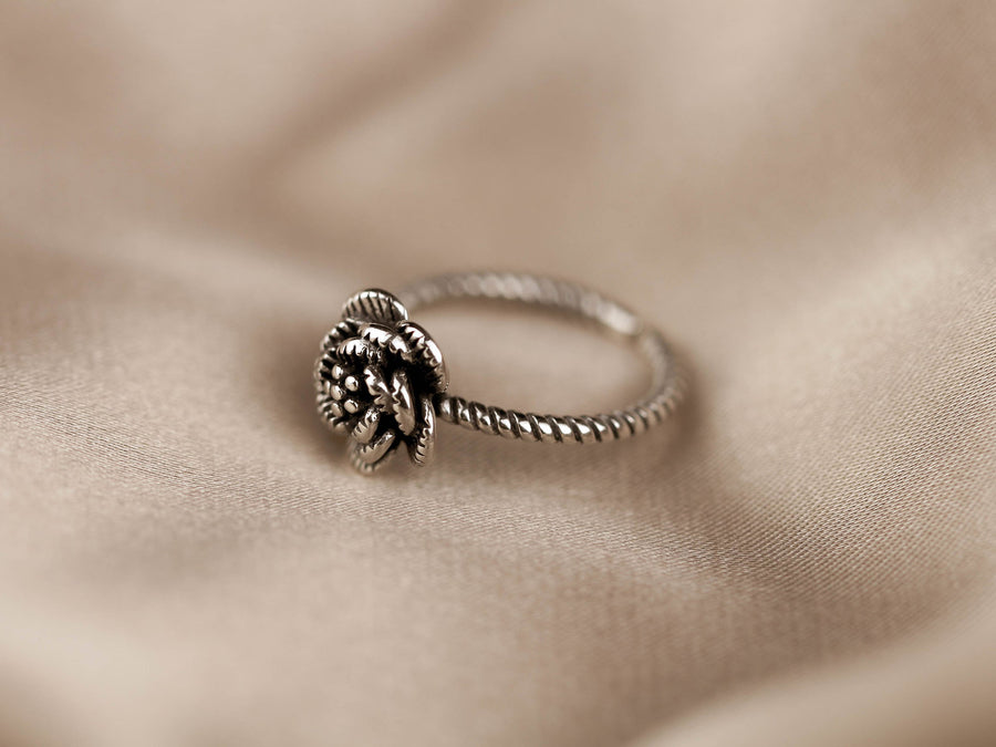 rose for silver ring