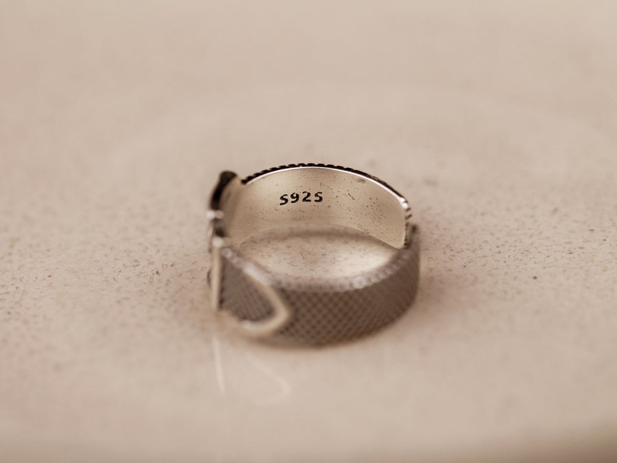 s925 silver sterling belt ring