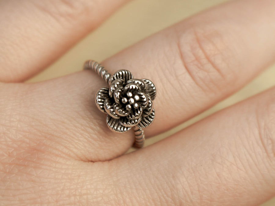 sterling silver 925 rose ring
