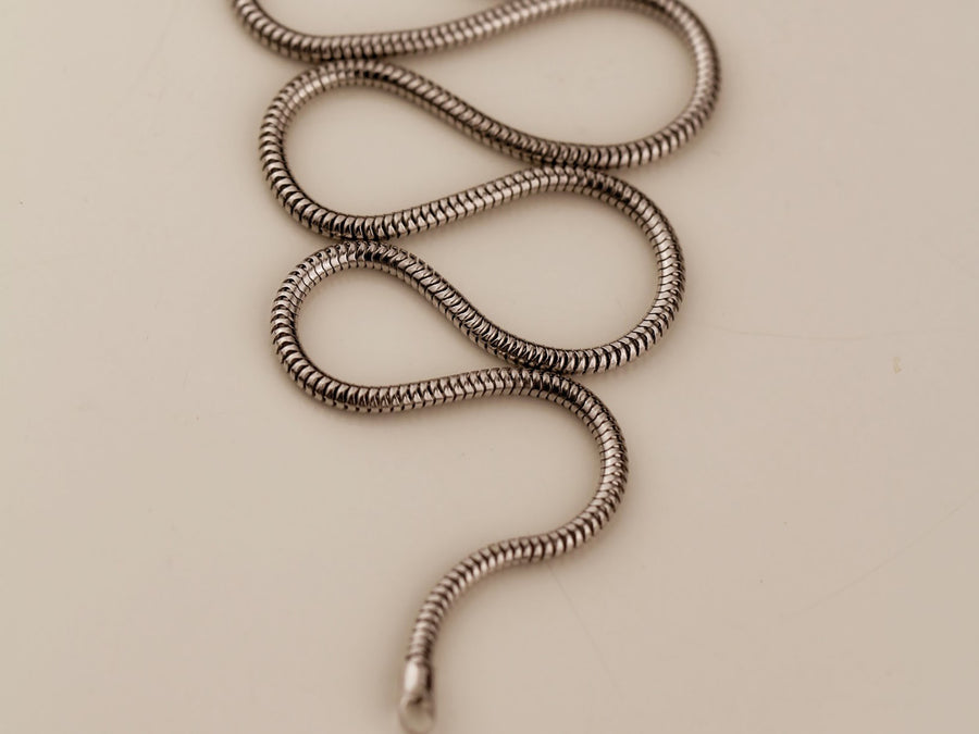 thick snake chain necklace for women in silver