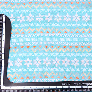 Sky Blue Cotton Silk Fabric With Digital Print