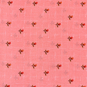 Pink Cotton Silk Fabric With Digital Print