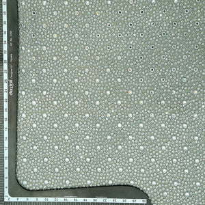 Light Grey Georgette Fabric With Mirror & Sequin Work