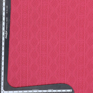 Pink Georgette Fabric Chikan Work