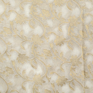 Dyable Off-white Woven Matte Georgette Fabric