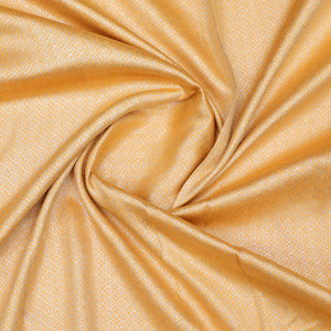 Mustard Yellow Hand-woven Banarasi Brocade Pure Silk With Light Gold Zari