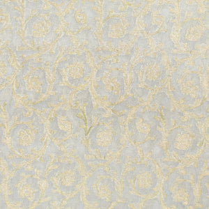 Dyeable White Pure Banarasi Georgette Fabric With Light Gold Zari