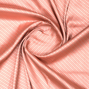Peach Hand-woven Banarasi Brocade Pure Silk With Light Gold Zari