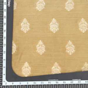 Beige Hand-woven Banarasi Brocade Pure Muga Silk With Gold Zari