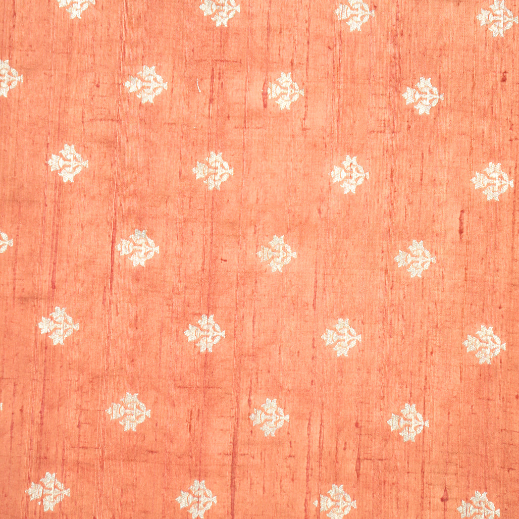 Light Brown Hand-woven Banarasi Brocade Raw Silk With Light Gold Zari
