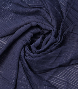 Navy Blue Shimmer Imported Wrinkled Georgette Fabric