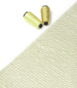 Greenish Gold Imported Shimmer Satin Pleated Fabric