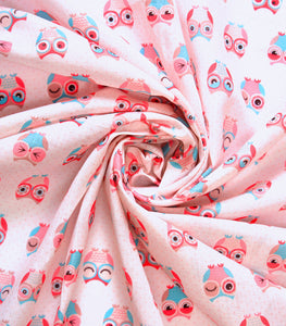 Quirky prints on Cotton Rayon Fabric