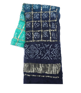 Shaded Silk Handmade Bandhani Dupatta